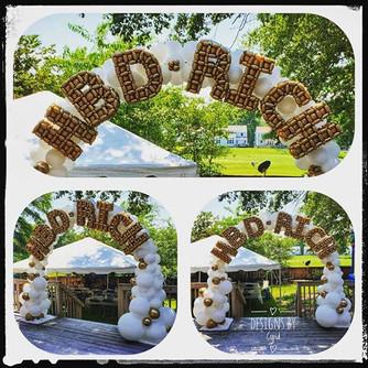 Happy Birthday Balloon Arch