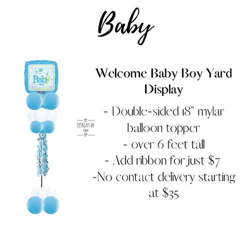 Yard Art - Welcome Baby Boy Display