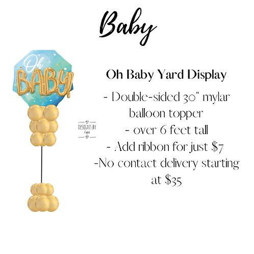 Yard Art - Oh Baby Blue Display