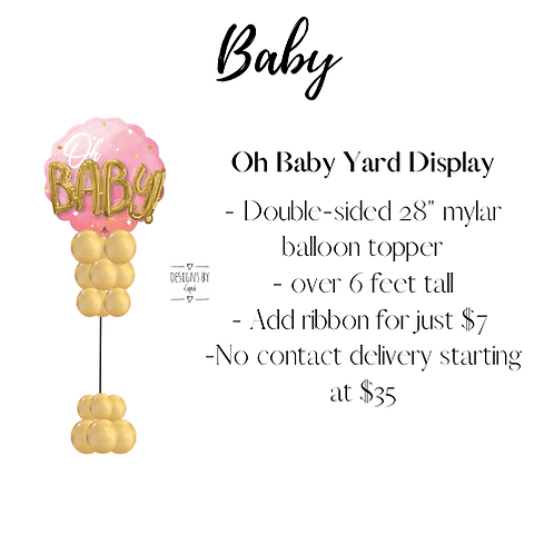 Yard Art - Oh Baby Pink Display