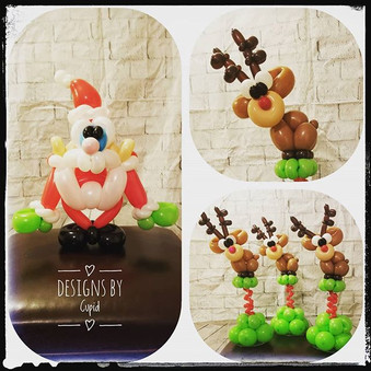 Santa / Reindeer Balloon Centerpieces