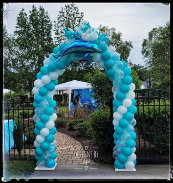 Dolphin Balloon Arch