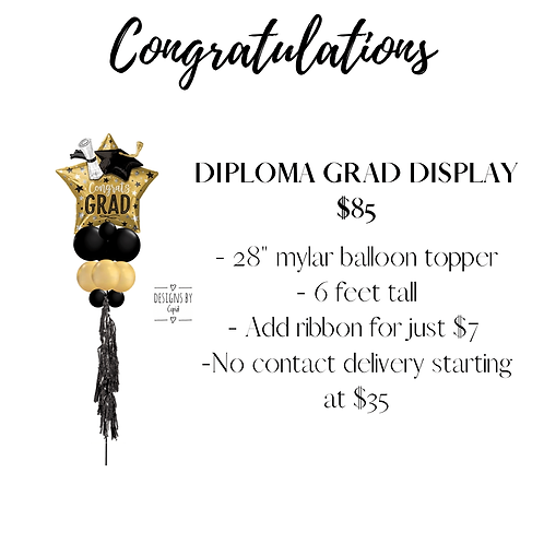 Yard Art - Diploma Grad Display