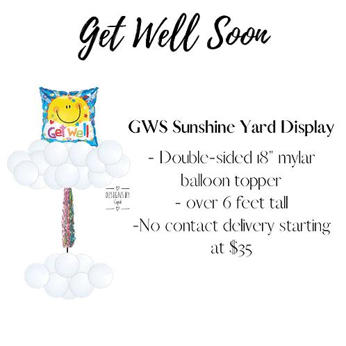 Yard Art - Get Well Soon Sunshine Display