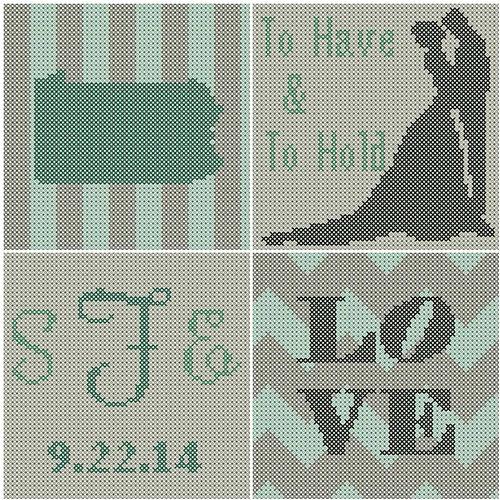 Wedding Cross Stitch. Sheep In Love Mini Kit Cross Stitch Kit ...
