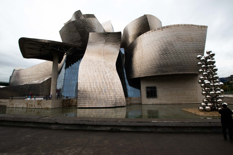 The Guggenheim Museum, built by architect Frank Gehry