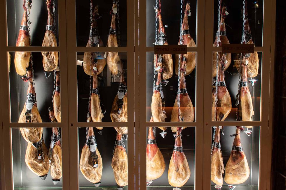 Spanish ham in chains