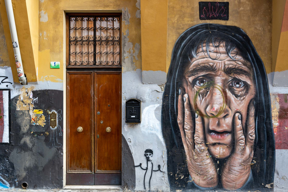 Artistic graffiti in Bologna