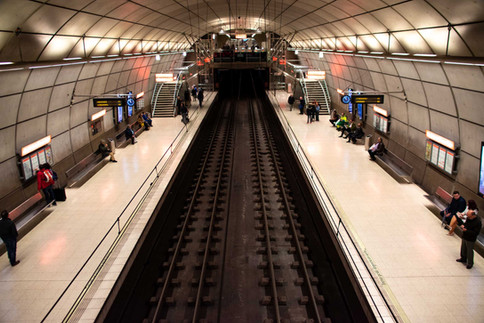 Modern Metro, built by architect Norman  Foster