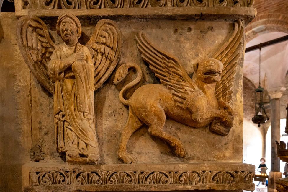 Detail of ornament at Basilica Santo Stefano,