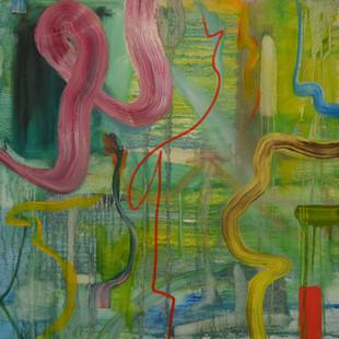 Untitled XXII, 2018, 81 x 81 x 4.5 cm, Oil on canvas
