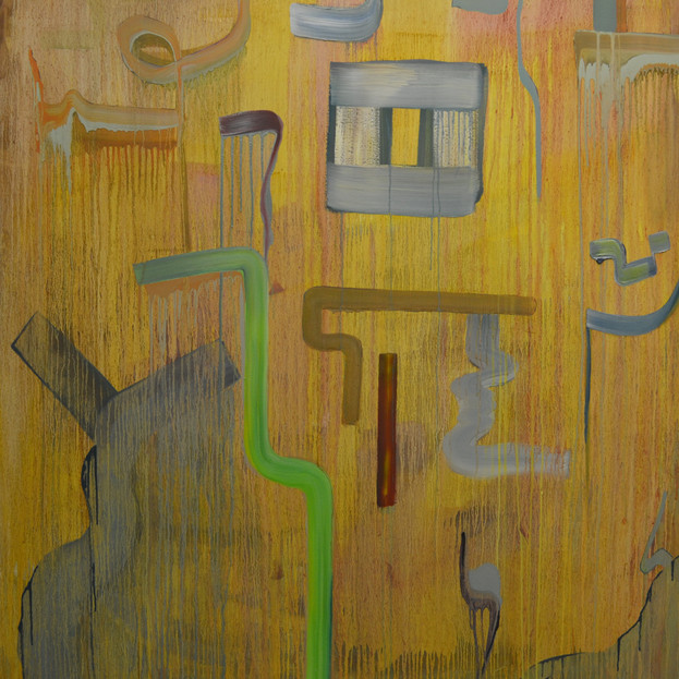 Untitled II, 140 x 121 x 4.5 cm, Oil on canvas, SOLD