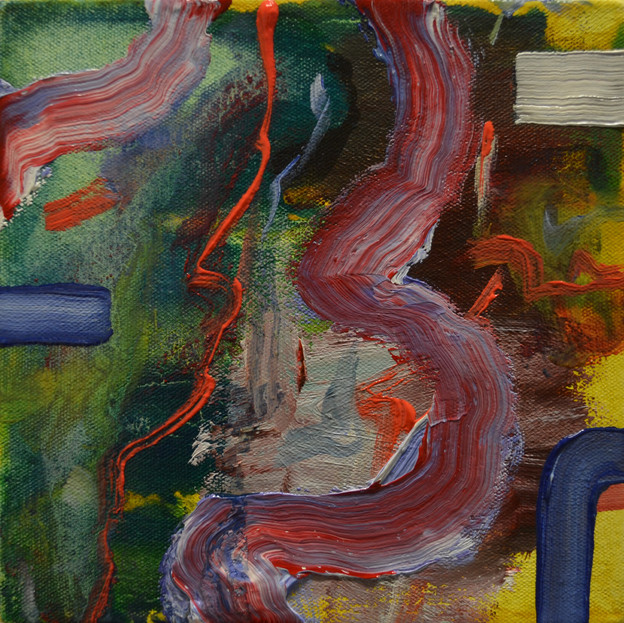 Untitled XVII, 17 x 18 x 4.5 cm, Oil on canvas, SOLD