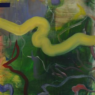 Untitled XXIII, 2018, 89 x 77 x 4.5 cm, Oil on canvas