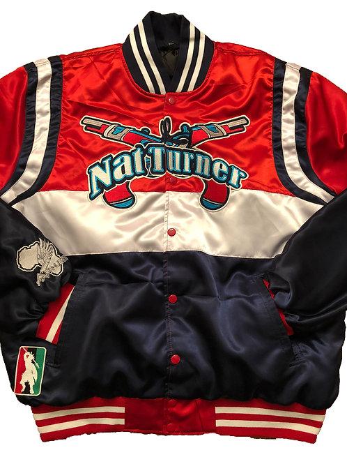 Nat Turner Burners Satin Varsity Jacket