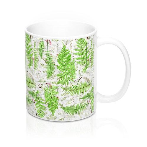 Botanical Fern Collage Mug 11oz