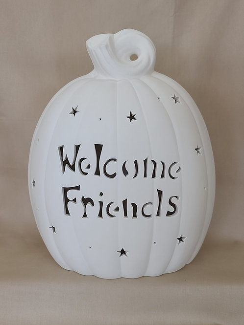 LG Personalized Lighted-up Pumpkin Oval