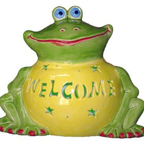 Personalized Light-up Garden Frog