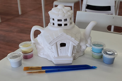 Teapot Fairy House (2021)Pottery to Go Kit