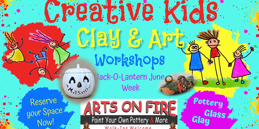 Kids Art Camp Jack-o-Lantern June Week