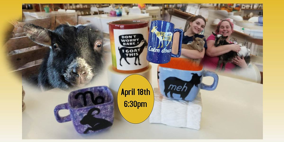 Pottery Painting with Goats