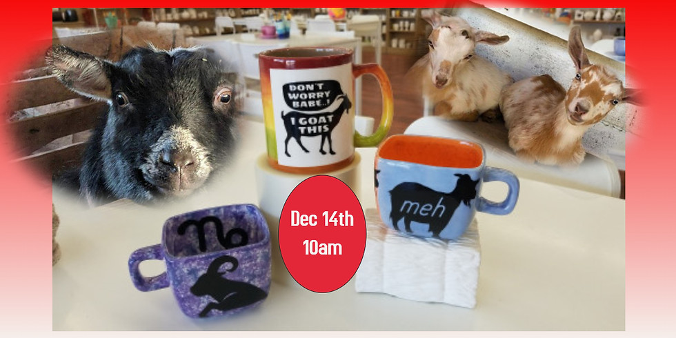 Pottery Painting with Goats 12/14