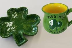 St Patricks Day Pottery
