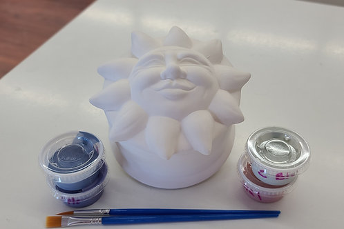 Sun Face Box Pottery to Go Kit