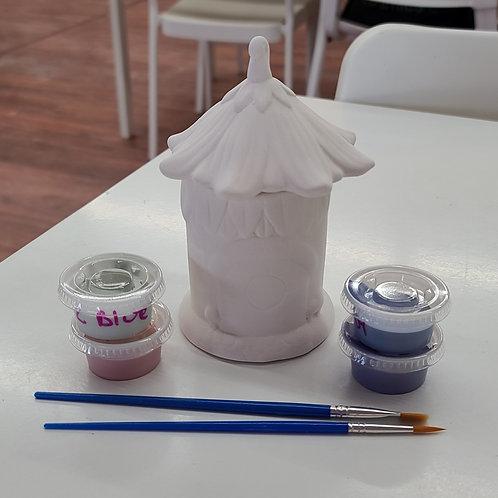 Sm Fairy House Box Pottery to Go Kit