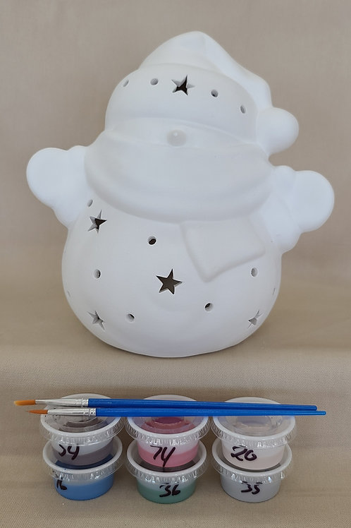 Lighted Snowman Pottery to Go Kit