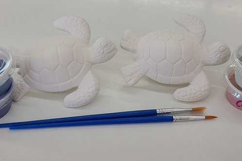 Pair of Sea Turtles Pottery to Go Kit