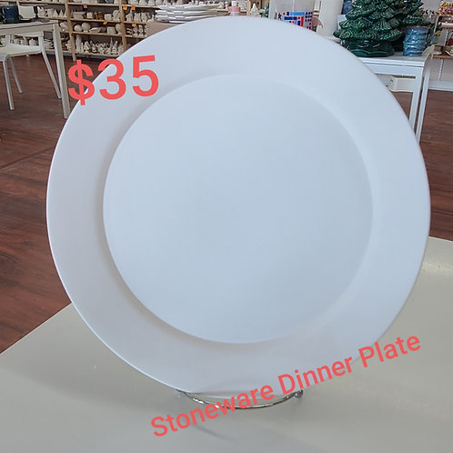 Stoneware Rimmed Dinner Plate Pottery to Go Kit