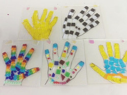 Fused Glass Hands