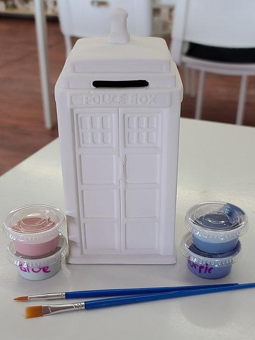 Police Box Bank Pottery to Go Kit