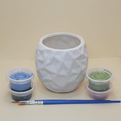 Geometric Planter Pottery to Go Kit