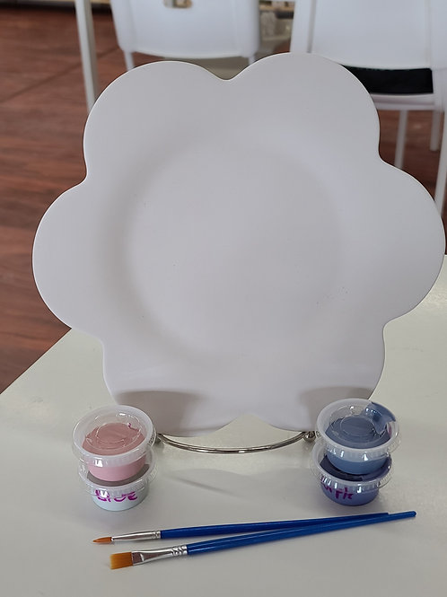 Flower Plate Pottery to Go Kit