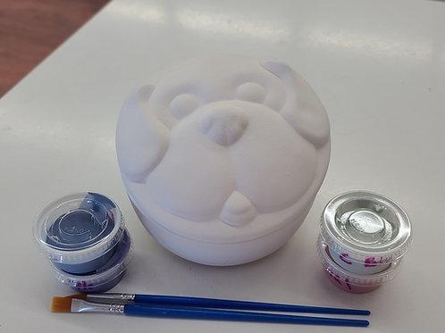 Dog Face Box Pottery to Go Kit
