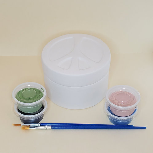 Peace Sign Box Pottery to Go Kit