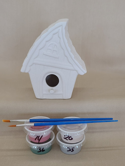 Whimsical Bird House Pottery to Go Kit