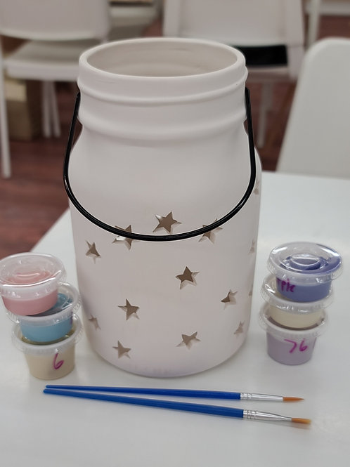 Large Mason Jar Lantern Pottery to Go Kit