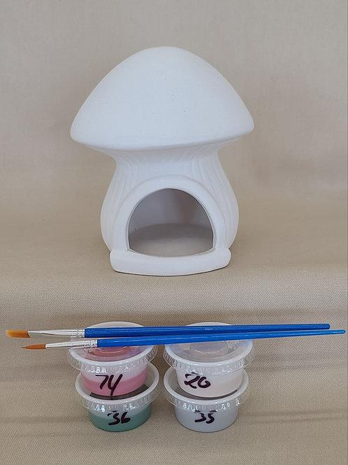 Mushroom Bird House Pottery to Go Kit