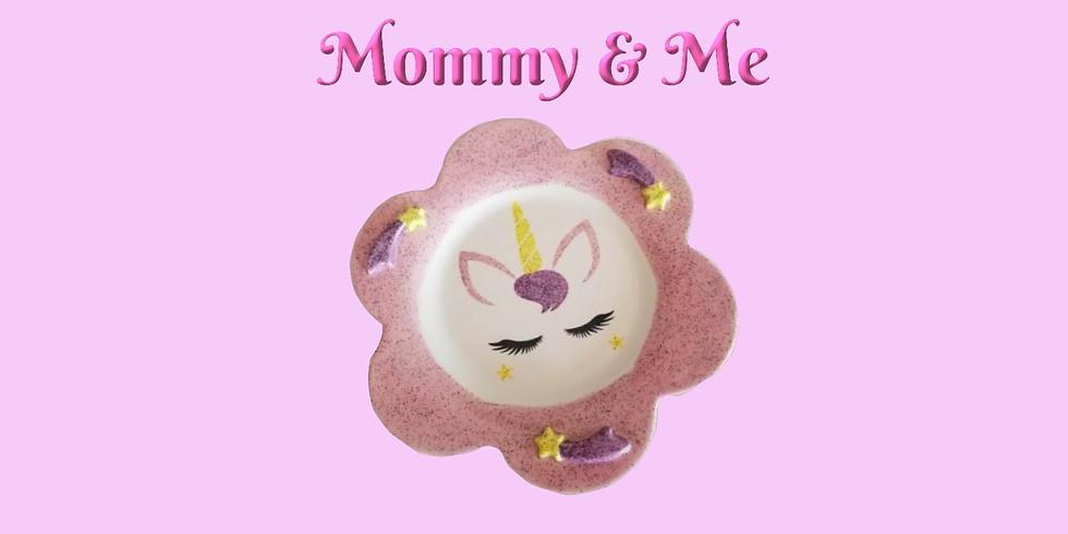 "Mommy & Me ""Unicorn Plate & Mug"""