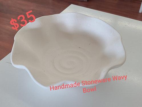 Stoneware Wavy BowlPottery to Go Kit