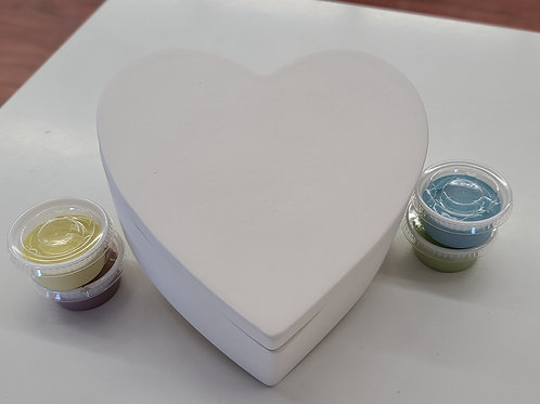 Large Heart Box Pottery to Go Kit