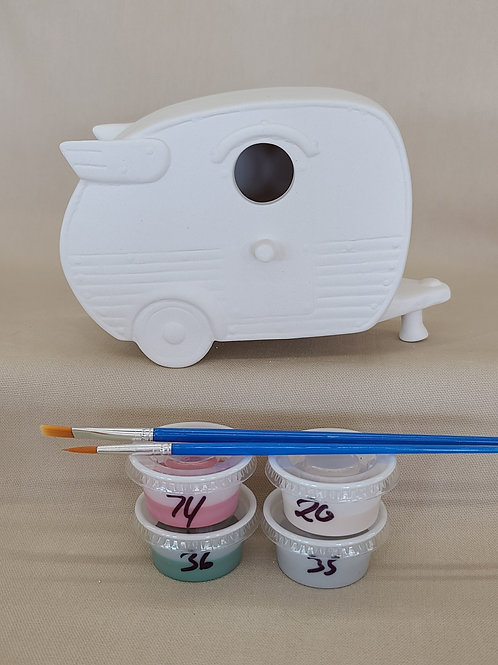 Camper Bird House Pottery to Go Kit