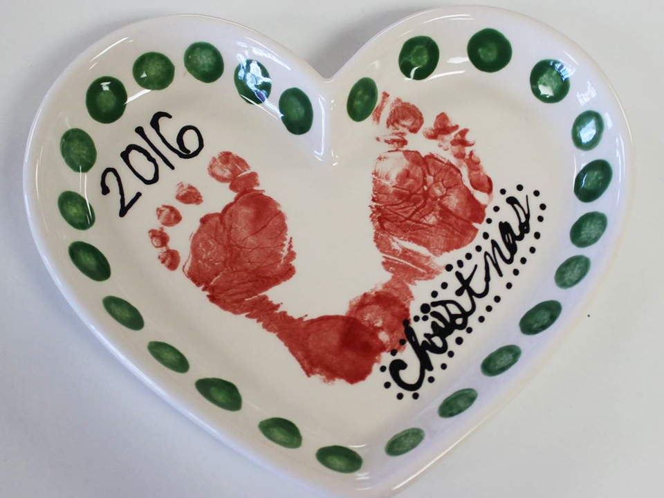 Pottery Painting Feet Prints