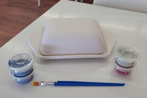 Butter Dish Pottery to Go Kit