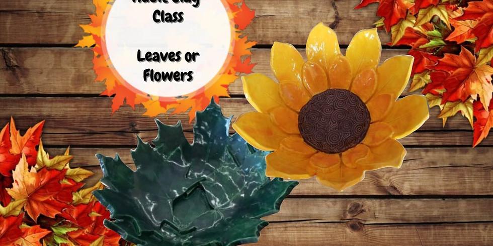 Adult Clay Class Leaf or Flower Bowl