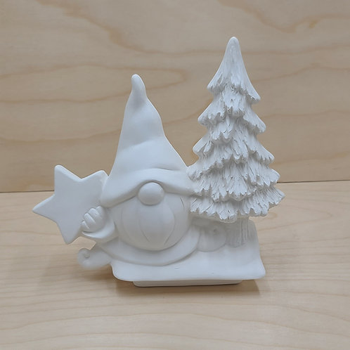 Gnome w/Star & Tree Insert Pottery to Go