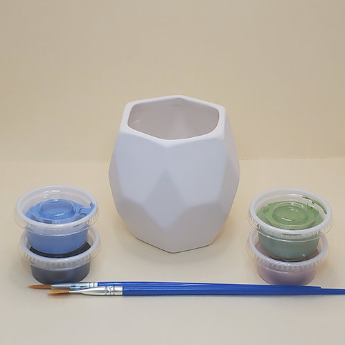 Faceted Planter Pottery to Go Kit